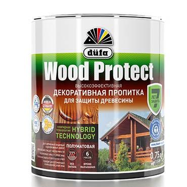 """""""Dufa"""" Пропитка WOOD PROTECT бесцветная  750мл"""